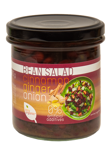 Red kidney bean salad with ginger, onion and cinnamon